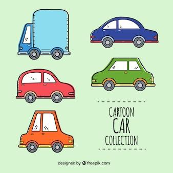 Mehrere cartoon autos