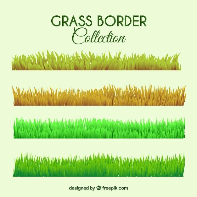 Mehrere gras grenzen mit verschiedenen farben