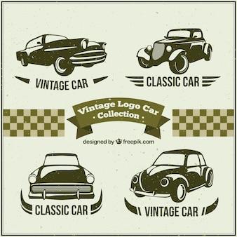 Mehrere logos mit oldtimern
