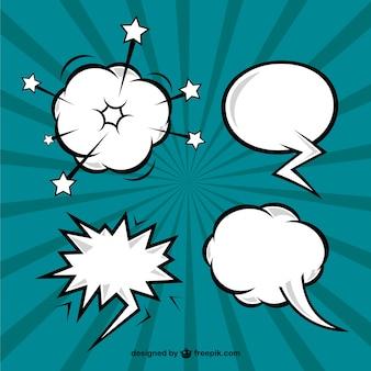 Mehrere von comic-sprechblasen