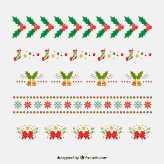 Mehrere weihnachtsschmuck
