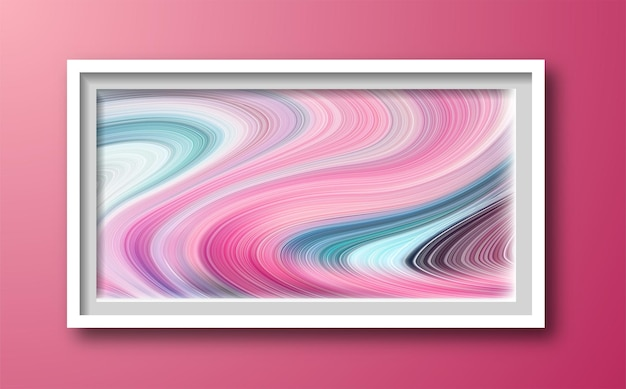 Mehrfarbig leuchtend mit wellenlinien