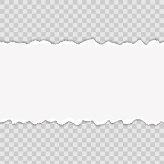 Mehrfarbig zerrissene papierkanten. kunstdesign.