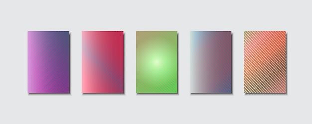 Mehrfarbige abstrakte vektorhintergründe aus linien.