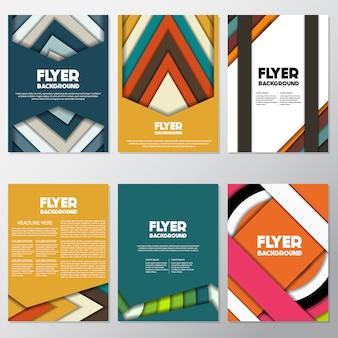 Mehrfarbige flyer design