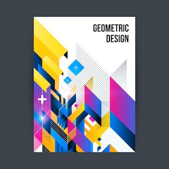 Mehrfarbige geometrische broschüre design