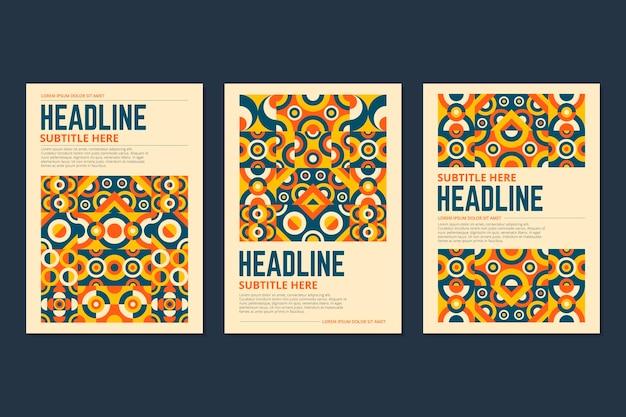 Mehrfarbige geometrische business-cover-kollektion