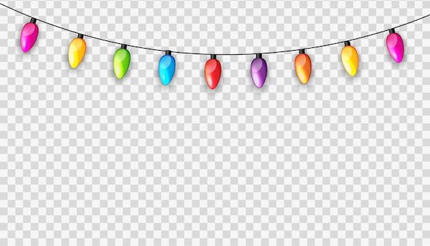 Mehrfarbige girlandenlampen