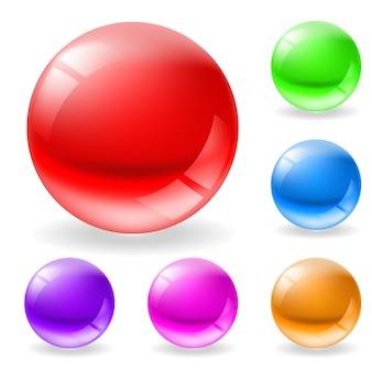 Mehrfarbige glänzende kugeln