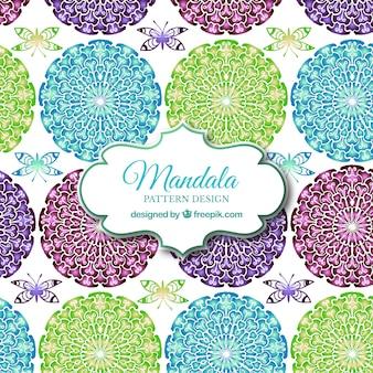 Mehrfarbige mandala muster hintergrund
