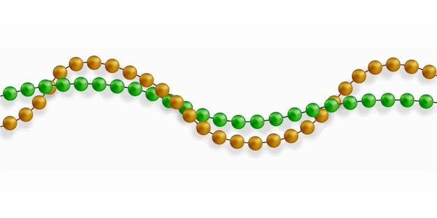 Mehrfarbige perlen. schöne kette in verschiedenen farben.