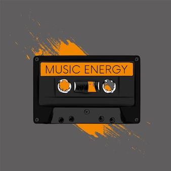 Mehrfarbige retro-kassette