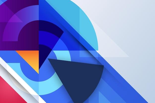 Mehrfarbiger geometrischer hintergrund mit farbverlauf