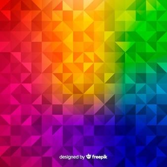 Mehrfarbiger moderner abstrakter hintergrund mit geometrischen formen