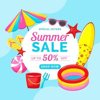 Mehrfarbiger sommerschlussverkauf