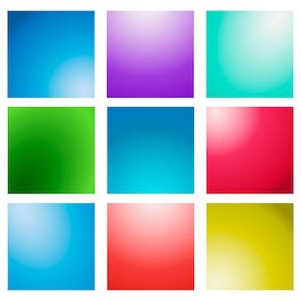 Mehrfarbiger unscharfer hintergrundsatz des abstrakten kreativen konzeptvektors.