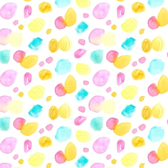 Mehrfarbiges aquarell-dotty-muster