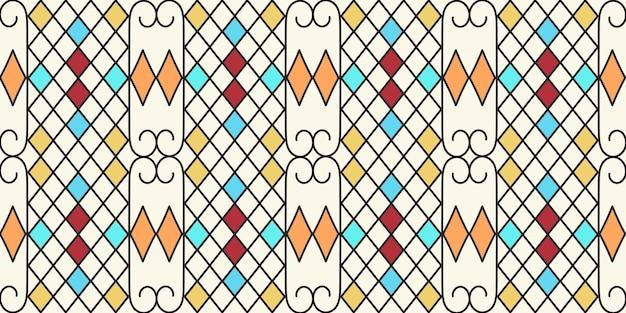 Mehrfarbiges geometrisches zirkusmuster