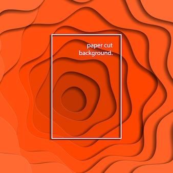 Mehrschichtiger bunter realistischer hintergrund des orange papierpapiers. trendige illustration einfach zu bearbeiten und anzupassen.