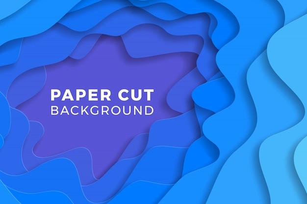 Mehrschichtiger bunter realistischer papierschnitthintergrund. abbildung einfach zu bearbeiten und anzupassen.