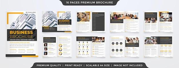 Mehrzweck-a4-bifold-broschürenlayout-vorlagendesign mit minimalistischem stil