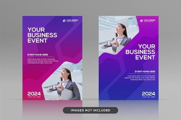 Mehrzweck-designvorlage für corporate book cover im a4-format premium-vektor-cover-modell