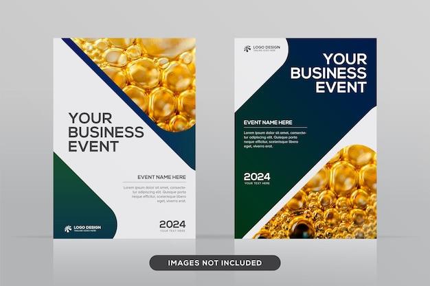 Mehrzweck-designvorlage für corporate book cover im a4-format premium-vektormodell