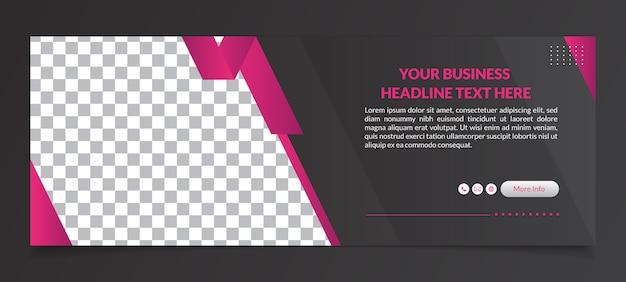 Mehrzweck-facebook-cover-banner-vorlage Premium Vektoren