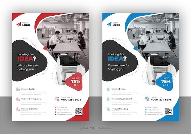 Mehrzweck-flyer-design für unternehmen und deckblattvorlage