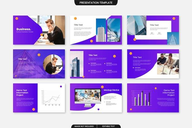 Mehrzweck-powerpoint-vorlage für das unternehmensgeschäft