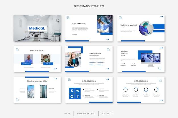 Mehrzweck-präsentationsvorlage für medizinische geschäftsfolien