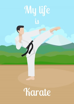 Mein leben ist karateplakat