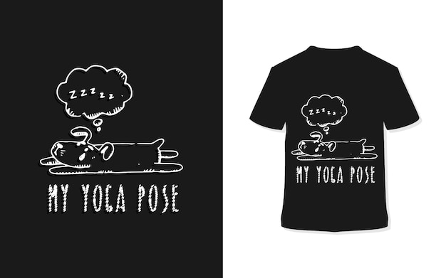 Mein yoga pose t-shirt design
