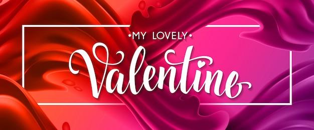 Meine schöne valentin schriftzug im rahmen