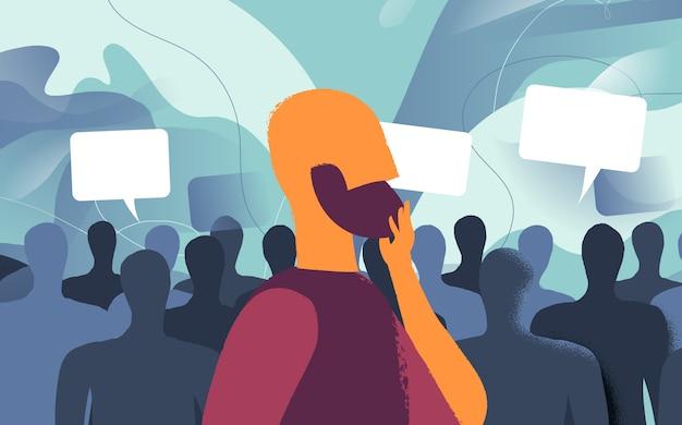 Meinungsumfragen von nutzern und menschen