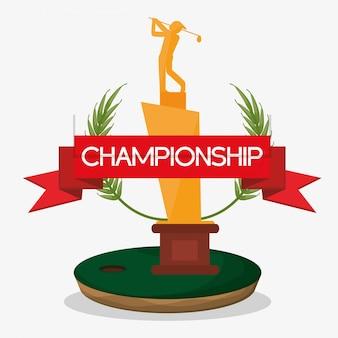 Meisterschaft trophäe golf banner
