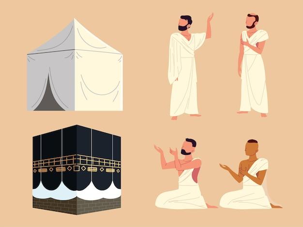 Mekka der muslimischen menschen