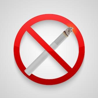 Melden sie rauchverbot. vektorillustrationskunst Premium Vektoren