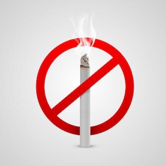 Melden sie rauchverbot. vektorillustrationssymbol