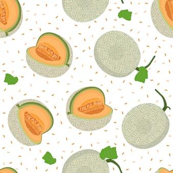 Melone ganze nahtlose muster