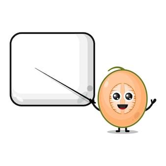 Melone wird ein süßes charaktermaskottchen des lehrers