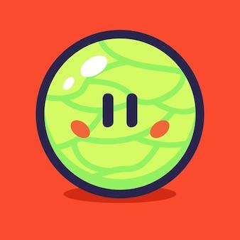 Melonen-cartoon-vektor-illustration