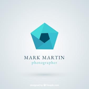 Membran-fotografie-logo in flachen stil
