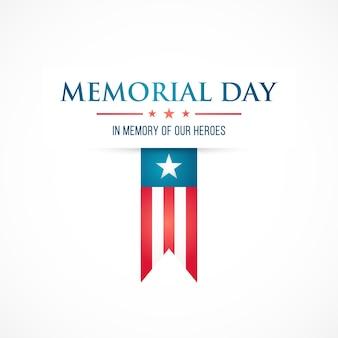Memorial day flaches design