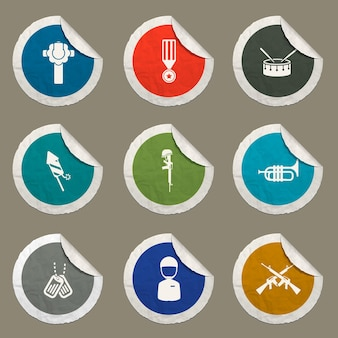 Memorial day icons set für websites und benutzeroberfläche