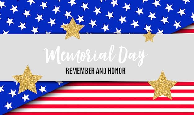 Memorial day in usa hintergrundvorlage