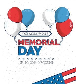 Memorial day verkauf poster