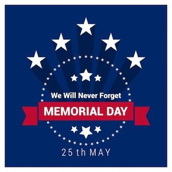 Memorial day vintage-label