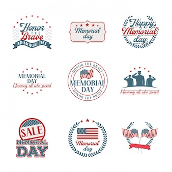 Memorial tag embleme gesetzt