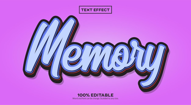 Memory-text-effekt